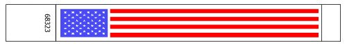 USA Flag Pattern Tyvek Wristbands