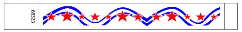 Stars & Stripe Pattern Tyvek Wristbands